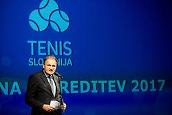 Marko Umberger during Slovenian Tennis personality of the year 2017 annual awards presented by Slovene Tennis Association Tenis Slovenija, on November 29, 2017 in Siti Teater, Ljubljana, Slovenia. Photo by Vid Ponikvar / Sportida