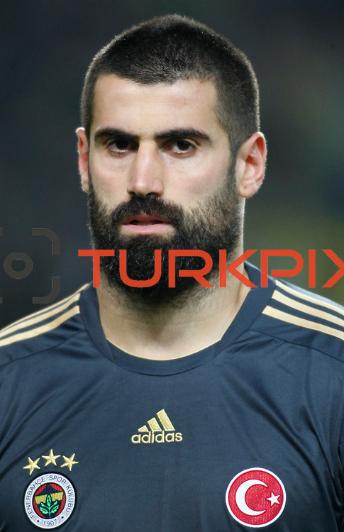 Fenerbahce's goalkeeper Volkan Demirel during their Turkish superleague soccer match Fenerbahce between Gaziantepspor at the Sukru Saracaoglu stadium in Istanbul Turkey on Monday09 January 2011. Photo by TURKPIX