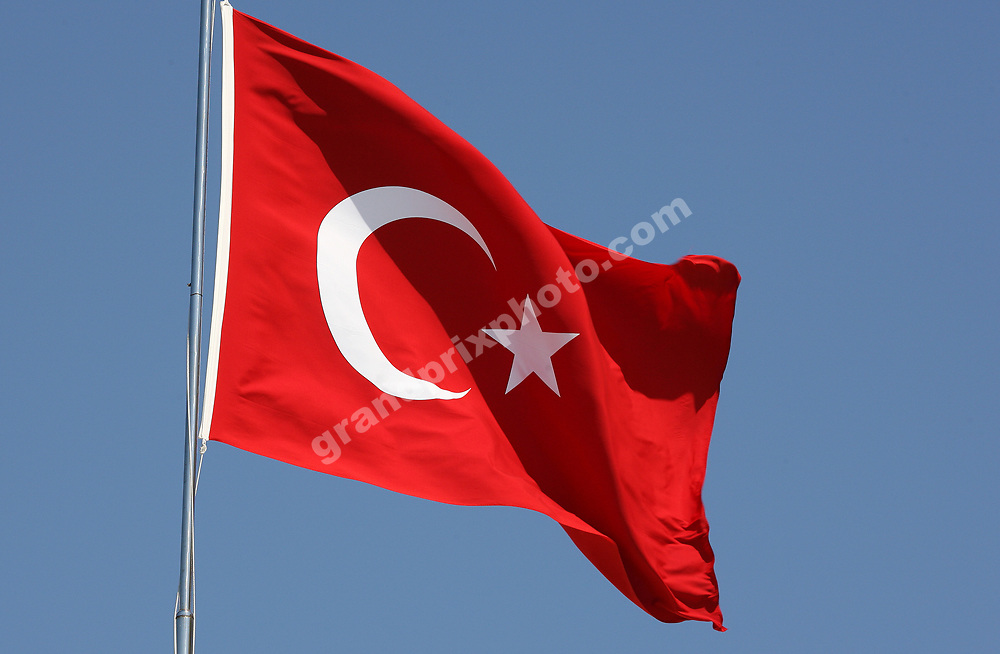 The Turkish flag in the paddock at Istanbul Park before the 2007 Turkish Grand Prix. Photo: Grand Prix Photo
