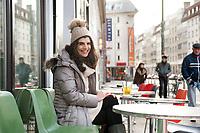 04 JAN 2012, BERLIN/GERMANY:<br /> Shermin Voshmgir, Filmemacherin und Gruenderin des Start-ups cinovu.com, Cafe Oberholz, Rosenthaler Platz<br /> IMAGE: 20120104-01-013