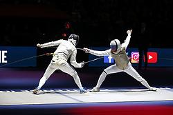 January 13, 2019 - Paris, France - Alexey Cheremisinov (RUSSIE) vs Alessio Foconi  (Credit Image: © Panoramic via ZUMA Press)