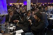 ROBIN SCOTT-LAWSON, GEORGE LAMB AND TREVOR JACKSON. Wallpaper Design Awards. Old Post Sorting Office. New Oxford St. London. 9 January 2008. -DO NOT ARCHIVE-© Copyright Photograph by Dafydd Jones. 248 Clapham Rd. London SW9 0PZ. Tel 0207 820 0771. www.dafjones.com.