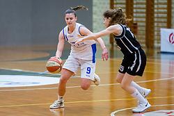 Eva Prevodnik of ZKK Triglav Kranj during basketball match between ZKK Triglav Kranj and ZKD Maribor in Round #1 of 1. Slovenian Woman basketball league, on February 20, 2018 in ŠD Planina, Kranj, Slovenia. Photo by Ziga Zupan / Sportida