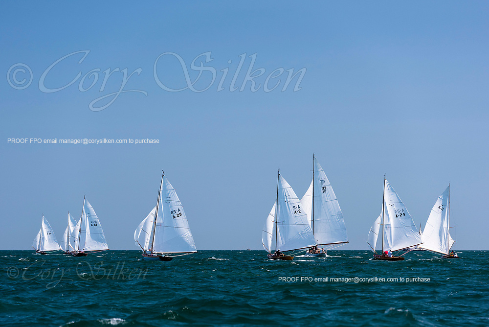 Alerion Class sailing in the Opera House Cup.