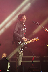 Gary Lightbody of Snow Patrol as the band headline the the main stage on Friday, at T in the Park 2012, held at Balado, in Fife, Scotland..