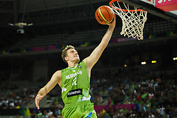 Zoran Dragic of Slovenia during basketball match between National Teams of Slovenia and Dominican Republic in Eight-finals of FIBA Basketball World Cup Spain 2014, on September 6, 2014 in Palau Sant Jordi, Barcelona, Spain. Photo by Tom Luksys  / Sportida.com <br /> ONLY FOR Slovenia, France