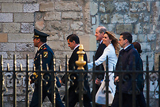 2015-03-03 Mexican President and wife Angelica Rivera arrive at Westminster Abbey