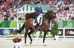 Hans Peter Minderhoud, (NED), Glocks Johnson TN - Freestyle Grand Prix Dressage - Alltech FEI World Equestrian Games™ 2014 - Normandy, France.<br /> © Hippo Foto Team - Jon Stroud<br /> 25/06/14