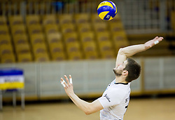 Jernej Stavbar of Calcit during volleyball match between ACH Volley and OK Calcit Volleyball in 10th Round of Slovenian National Championship 2014/15, on March 11, 2015 in Arena Tivoli, Ljubljana, Slovenia. Photo by Vid Ponikvar / Sportida