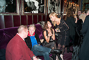 SIMON BLOW; PHILIP TREACY; SASHA VOLKOVA; MARGARITA WENNBERG, Lauren Goldstein Crowe hosts reception to thank those that particitated in the research for her book: Isabella, A Life in Fashion. The Fumoir. Claridge's. London. 8 November 2010. -DO NOT ARCHIVE-© Copyright Photograph by Dafydd Jones. 248 Clapham Rd. London SW9 0PZ. Tel 0207 820 0771. www.dafjones.com.