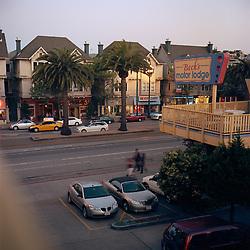 Market Street from the 3rd floor balcony of Beck's Motor Lodge at dusk, San Francisco May 16, 2009