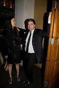 MAI-THU PERRET; JOHN ARMLEDER. John Armleder preview/ dinner. Simon Lee Gallery and afterwards at Automat. Berkeley St. London. 24 June 2008.  *** Local Caption *** -DO NOT ARCHIVE-© Copyright Photograph by Dafydd Jones. 248 Clapham Rd. London SW9 0PZ. Tel 0207 820 0771. www.dafjones.com.