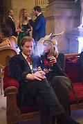 TOM NAYLOR-LEYLAND; LAUREN PARK, Ball at to celebrateBlanche Howard's 21st and  George Howard's 30th  birthday. Dress code: Black Tie with a touch of Surrealism. Castle Howard. Yorkshire. 14 November 2015