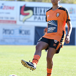 BRISBANE, AUSTRALIA - OCTOBER 30: Allira Toby of the Roar warms up before the round 1 Westfield W-League match between the Brisbane Roar and Sydney FC at Spencer Park on November 5, 2016 in Brisbane, Australia. (Photo by Patrick Kearney/Brisbane Roar)