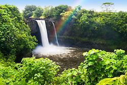 Rainbow Falls, Wailuku River State Park, Hilo, Big Island, Hawaii, USA