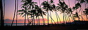 Sunset, Waikiki, Oahu, Hawaii, USA<br />