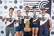 Team World, with members Kanoa Igarashi (JPN), Paige Hareb (NZ), Bianca Buitendag (ZAF), Michel Bourez (PYF) and captained by Jordy Smith (ZAF) won the innagural WSL Founders Cup of Surfing at the WSL Surf Ranch in Lemoore, CA, USA. . FOR EDITORIAL NEWS USE ONLY