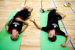 Nebojsa Joksimovic and Goran Dragic - Gogi during practice session of Slovenian National Basketball team during training camp for Eurobasket Lithuania 2011, on July 12, 2011, in Arena Vitranc, Kranjska Gora, Slovenia. (Photo by Vid Ponikvar / Sportida)