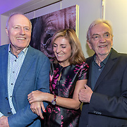 NLD/Bussum/20190306  - boekpresentatie 50 jaar Nederlandse popcultuur van Lex Harding, Peter Tuinman met Lex Harding en diens partner Fariba