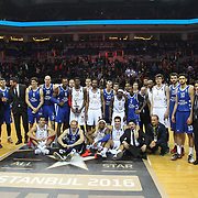 Anadolu Efes's during their Turkish Basketball Spor Toto Super League ALL-STAR 2016 at the Ulker Sports Arena in Istanbul, Turkey, Sunday 24, January 2016. Photo by Safak KAYARLAR/TURKPIX
