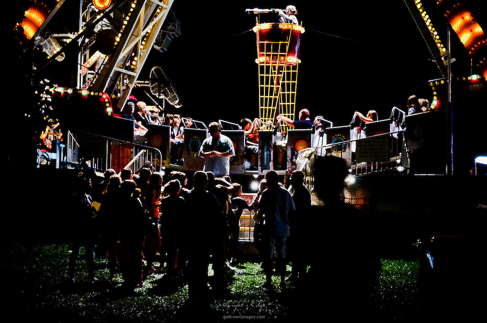 Patrons gather to ride the ride at Pitman's annual Highland Chemical Carnival held over Labor Day weekend.
