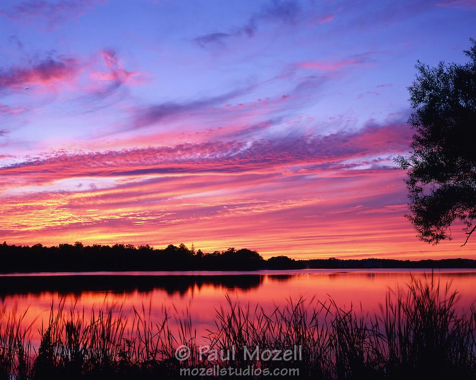 Sunset over Lake Quannapowitt, Wakefield, Massachusetts