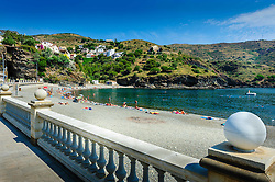 The beach and Mediterranean Sea at Portbou, Spain<br /> <br /> (c) Andrew Wilson | Edinburgh Elite media