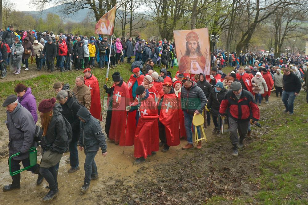April 14, 2017 - Kalwaria Zebrzydowska, Poland - Suspended Fr. Piotr Natanek  (Credit Image: © Artur Widak/NurPhoto via ZUMA Press)