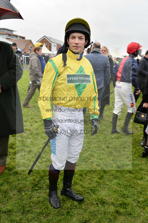 SAM WALEY-COHEN at the 2015 Hennessy Gold Cup held at Newbury Racecourse, Berkshire on 28th November 2015.