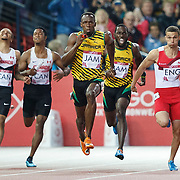 The 20th Commonwealth Games at Hampden Park in Glasgow, Scotland. Men's 4x100m Relay Final. Usain Bolt powers home to win gold for for Jamaica.  2 Aug 2014.