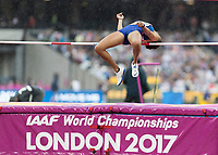 Athletics - 2017 IAAF London World Athletics Championships - Day Two (AM Session)<br /> <br /> Event: High Jump Women - Heptathlon<br /> <br /> Kendall Williams (USA) clears the high jump bar <br /> <br /> COLORSPORT/DANIEL BEARHAM