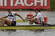 Munich, GERMANY, 2006, FISA, Rowing, World Cup, USA W2- Bow, Lindsay Shoop and Anna Goodale.,  held on the Olympic Regatta Course, Munich, Thurs. 25.05.2006. © Peter Spurrier/Intersport-images.com,  / Mobile +44 [0] 7973 819 551 / email images@intersport-images.com.[Mandatory Credit, Peter Spurier/ Intersport Images] Rowing Course, Olympic Regatta Rowing Course, Munich, GERMANY