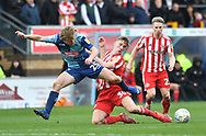 Wycombe Wanderers Alex Samuel (25) and Sunderland's Lewis Morgan*** during the EFL Sky Bet League 1 match between Wycombe Wanderers and Sunderland at Adams Park, High Wycombe, England on 9 March 2019.