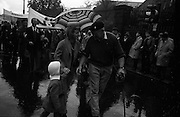 National Farmer's Association Deputation Sit-In at the Department of Agriculture.  Rickard Deasy, President of the N.F.A leading the march.<br /> 19.10.1966