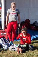 New York, New York - Cornell runners get ready to compete in the Ivy League Heptagonal women's<br /> cross country championship meet at Van Cortlandt Park in the Bronx on Oct. 26, 2017.