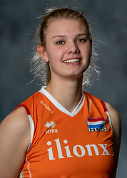 14-05-2019 NED: Photoshoot national volleyball team Women, Arnhem<br /> Eline Timmerman of Netherlands