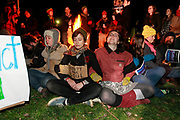 Nov. 30, 2011 - Charlottesville, Virginia - USA;  Charlottesville occupiers were arrested late Wednesday night after their special-event permit expired and police resumed enforcement of the 11 p.m. curfew in Lee park. (Credit Image: The Daily Progress/ Andrew Shurtleff)