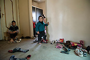 Family of Syrian refugees from Al Qusayr who arrived in March in the village Aarsal, Lebanon.