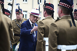 The Duke of Edinburgh presents Operational Service medals to the 4th Battalion, The Royal Regiment of Scotland in Fallingbostel, Germany.
