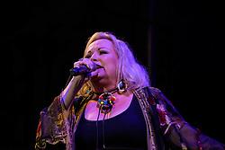 Claire Johnston, Lead Vocal, Mango Groove. Cape Town Jazz Festival Free Community Concert, 29 March 2017. Greenmarket Square. Photo by Alec Smith/imagemundi.com