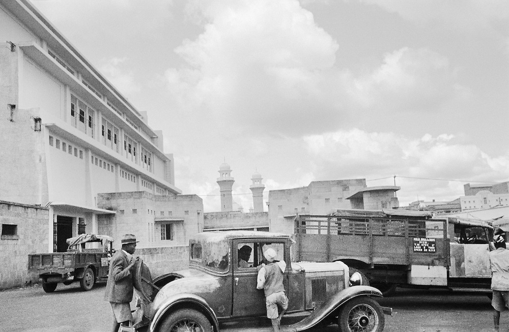 Street Scene, Concrete Building, Nairobi, Kenya, Africa, 1937