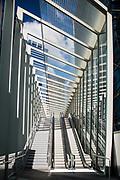 Barangaroo Pedestrian Bridge known as The Wynard Walk, Barangaroo, Sydney, Australia.