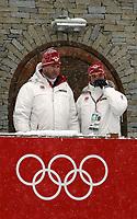 OL 2006 Langrenn 15 km menn 17.02.06 <br /> Pragelato Plan<br /> Foto: Sigbjørn Hofsmo, Digitalsport<br /> <br /> Inge Andersen  (generalsekreter NOC) NOR Norge - Atle Kvålsvoll