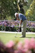 Active Senior Man Golfing