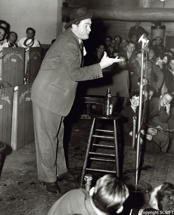 1944 Red Skelton doing his famous Guzzlers Gin skit at the Hollywood Canteen