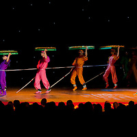 Members of the China Disabled People's Performing Art Troup perform in Budapest, Hungary on June 10, 2011. ATTILA VOLGYI