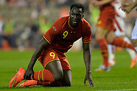 Fotball<br /> 07.06.2014<br /> Belgia v Tunisia<br /> Foto: PhotoNews/Digitalsport<br /> NORWAY ONLY<br /> <br /> Romelu Lukaku of Belgium is injured  during a FIFA international friendly match between Belgium and Tunisia as part of the preparation of the Belgian national soccer team prior to the FIFA World Cup 2014 at the King Baudouin Stadium in Brussels, Belgium.