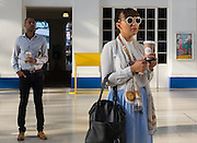 """Commuters to London make up a large proportion of the station's overall passenger count. Jessica tends to enjoy her journeys to Victoria. """"I travel every weekday and drink a hell of a lot of coffee. At the moment I'm watching a series on my iPad, and usually read the paper."""""""