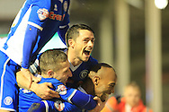 Calvin Andrew, Ian Henderson goal during the Sky Bet League 1 match between Walsall and Rochdale at the Banks's Stadium, Walsall, England on 2 January 2016. Photo by Daniel Youngs.