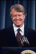 President Carter at a news conference in the East Room of the White House,<br /> Photo by Dennis Brack